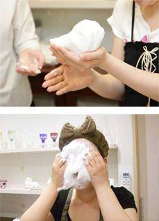正しい洗顔方法をレッスンできる洗顔セミナー